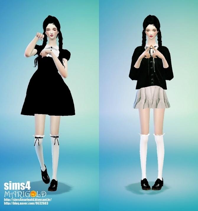Sims 4 Frill socks at Marigold