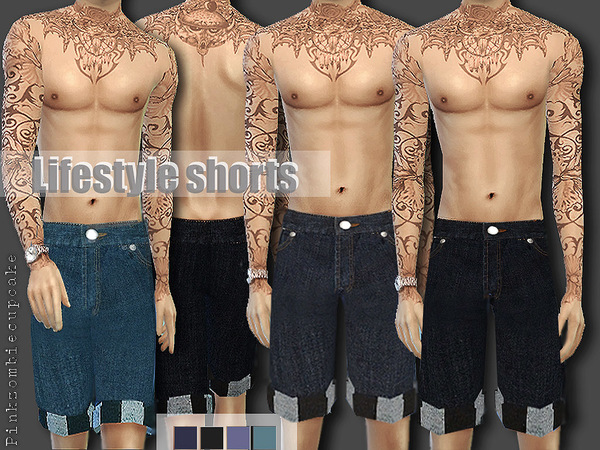 Sims 4 Lifestyle Shorts by Pinkzombiecupcakes at TSR