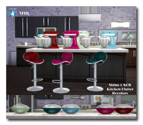 Sims 4 Shino & KCR's Kitchen Clutter Recolors at Msteaqueen