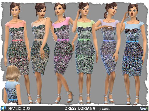 Sims 4 Dress Loriana by Devilicious at TSR