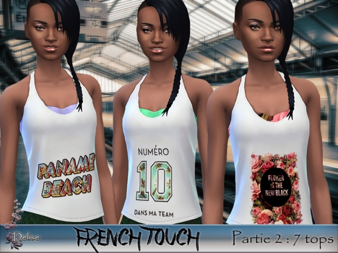 FRENCH TOUCH PARTIE 2 tanks by Delise at Sims Artists image 1403 Sims 4 Updates
