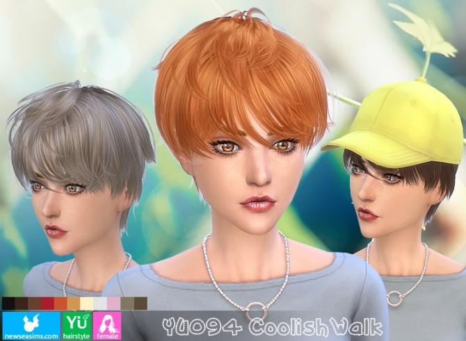 Sims 4 YU094 Coolish Walks female hair (Pay) at Newsea Sims 4