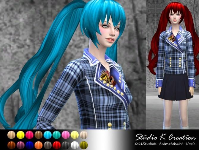 Animate hair 8 Norie at Studio K Creation image 14201 670x503 Sims 4 Updates