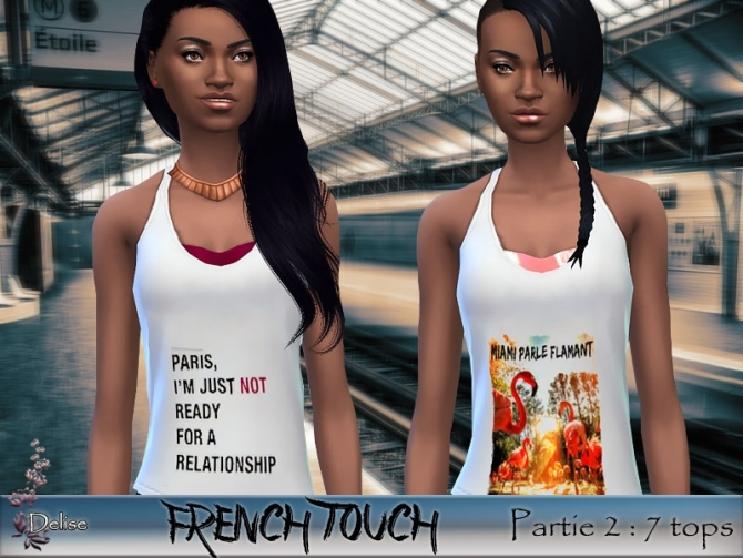 FRENCH TOUCH PARTIE 2 tanks by Delise at Sims Artists image 1422 Sims 4 Updates
