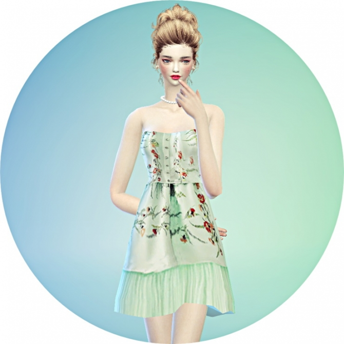 Lovely flower dress at Marigold image 1430 Sims 4 Updates