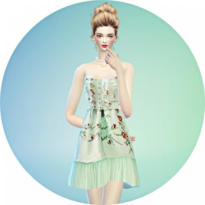 Lovely Flower Dress At Marigold 187 Sims 4 Updates