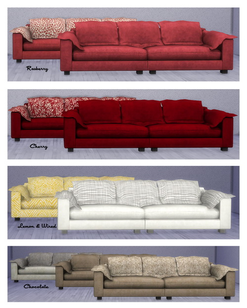 Brial immorttell diesel living recolors at msteaqueen for Sofa bed sims 4