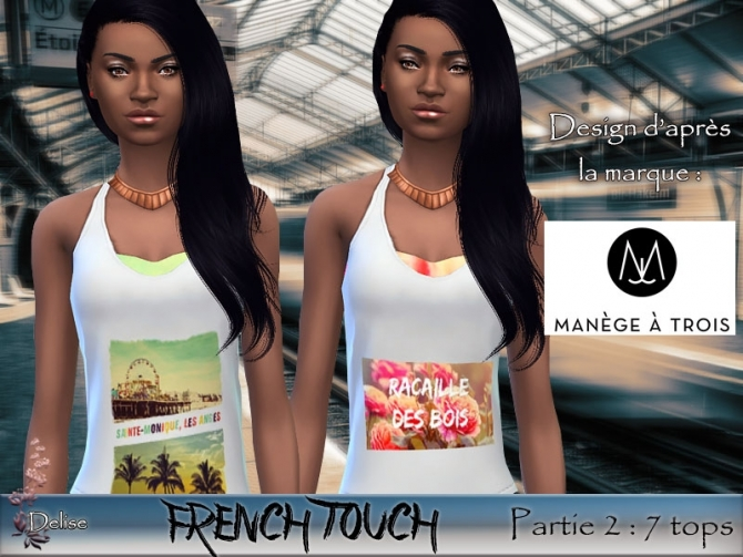 FRENCH TOUCH PARTIE 2 tanks by Delise at Sims Artists image 1433 Sims 4 Updates