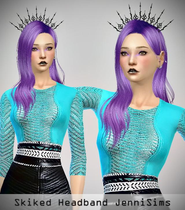 Sims 4 Spiked Headband at Jenni Sims
