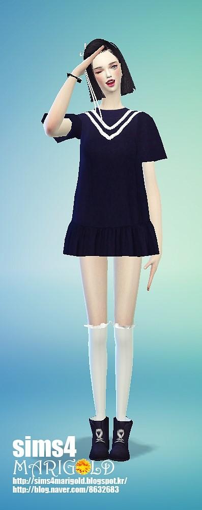 V line dress at Marigold image 1455 Sims 4 Updates