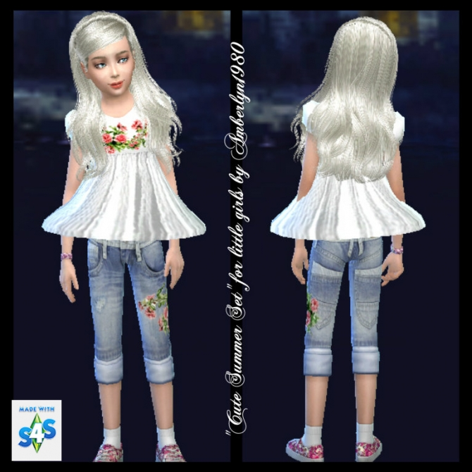 Cute Summer Set for little girls at Amberlyn Designs image 1459 Sims 4 Updates