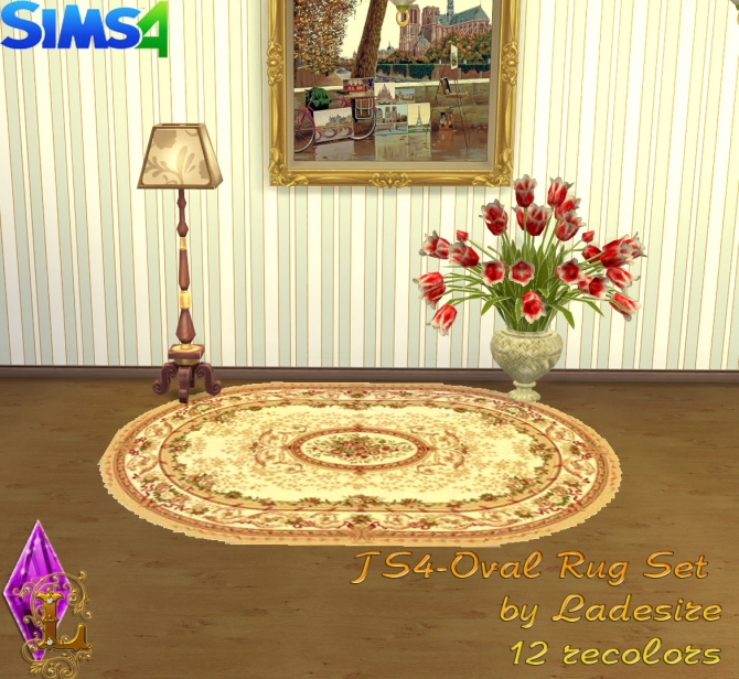 Oval Rugs at Ladesire image 146 Sims 4 Updates