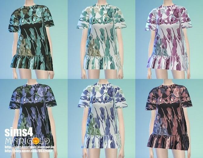 Sims 4 Beautiful flower blouse at Marigold