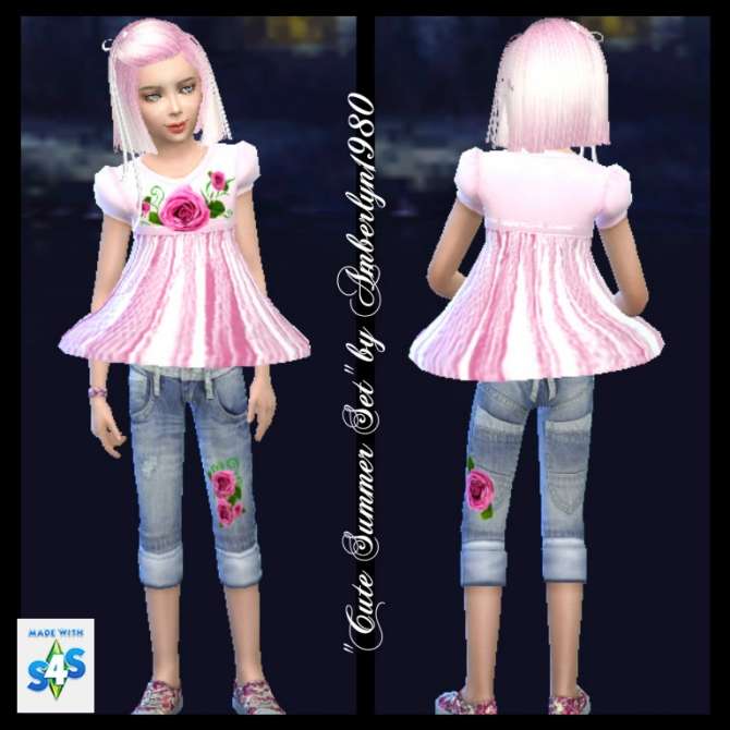 Cute Summer Set for little girls at Amberlyn Designs image 1469 Sims 4 Updates