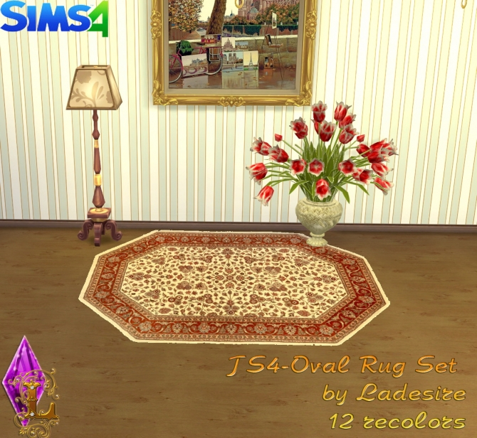 Oval Rugs at Ladesire image 147 Sims 4 Updates
