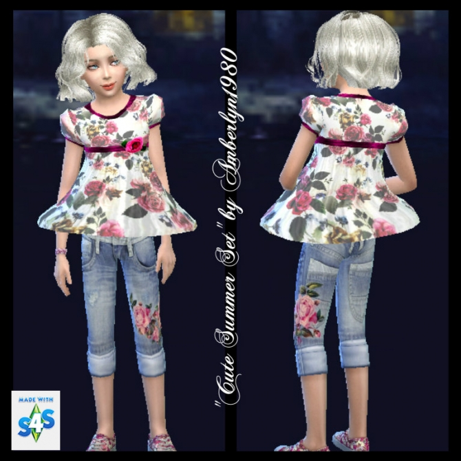 Cute Summer Set for little girls at Amberlyn Designs image 14710 Sims 4 Updates