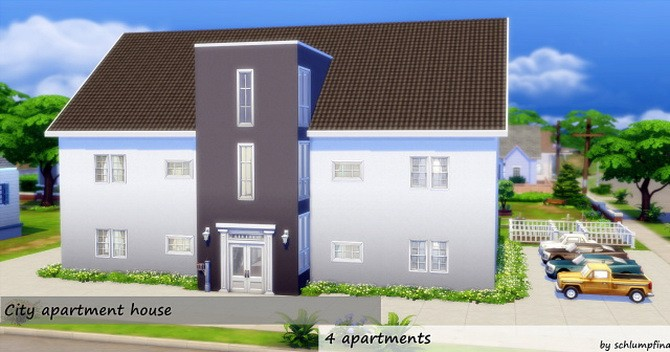 City Apartment House By Schlumpfina At My Fabulous Sims  Sims - 4 apartment house