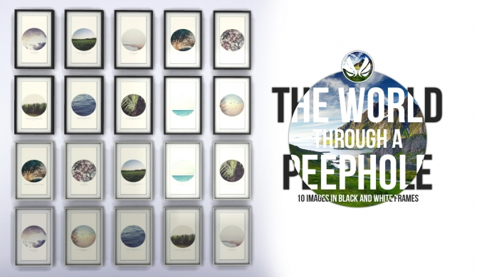 Sims 4 The World Through a Peephole Paintings at Simsational Designs