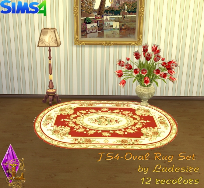 Oval Rugs at Ladesire image 148 Sims 4 Updates