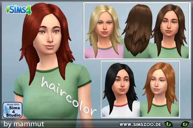 Sims 4 Rock Long hair 1 by mammut at Blacky's Sims Zoo
