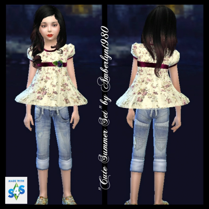 Cute Summer Set for little girls at Amberlyn Designs image 14911 Sims 4 Updates
