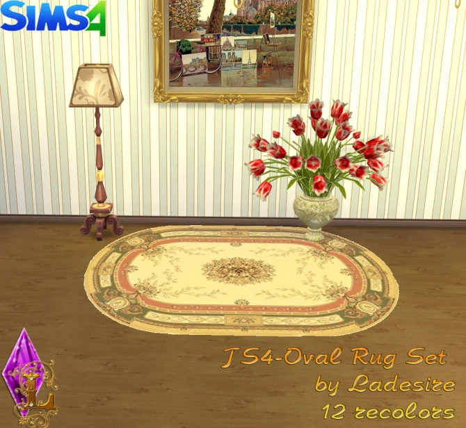 Oval Rugs at Ladesire image 150 Sims 4 Updates