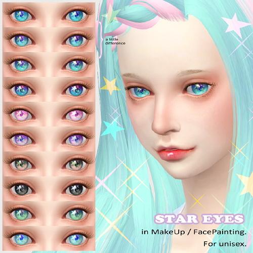 Sims 4 STAR EYES at Imadako