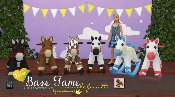 Sims 4 Kid's Horse Toys (Only decorative) at In a bad Romance