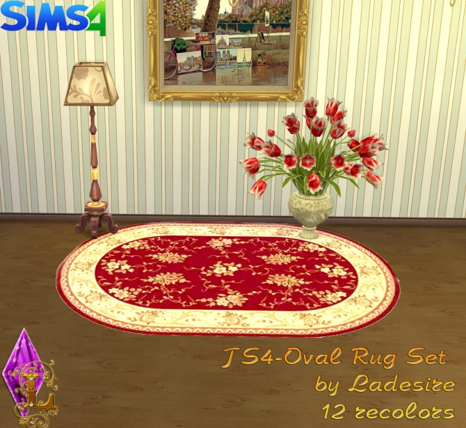 Oval Rugs at Ladesire image 152 Sims 4 Updates