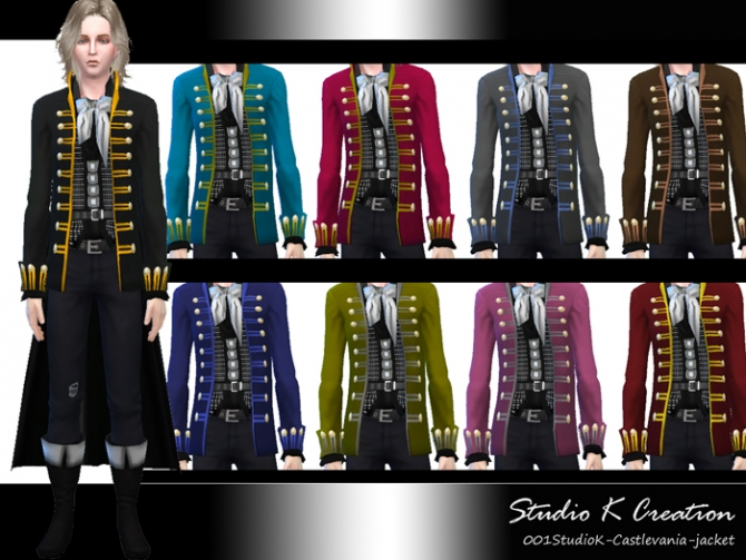 Castlevania Alucard Outfit At Studio K Creation 187 Sims 4