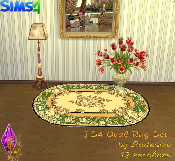 Oval Rugs at Ladesire image 153 Sims 4 Updates