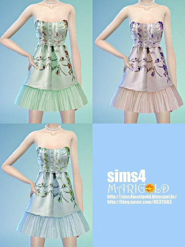 Lovely flower dress at Marigold image 1530 Sims 4 Updates