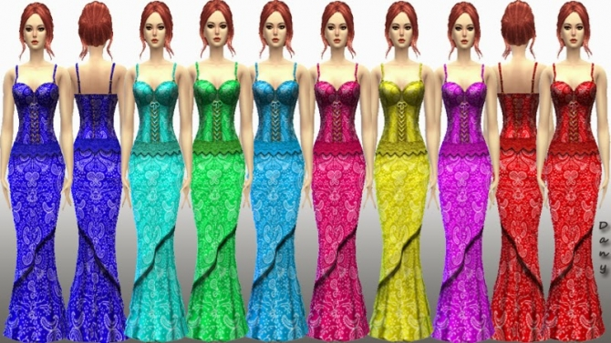 Sims 4 LolaBell Long Dress at Dany's Blog