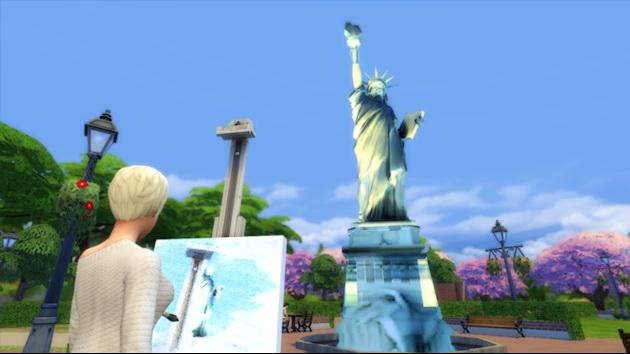 Sims 4 Statue of Liberty at Splay