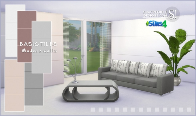 Basic and Marbled tiled walls at SIMcredible! Designs 4 image 1573 Sims 4 Updates