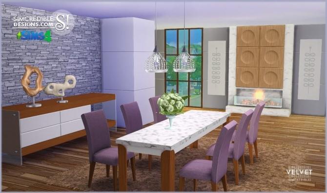 Sims 4 Velvet diningroom at SIMcredible! Designs 4