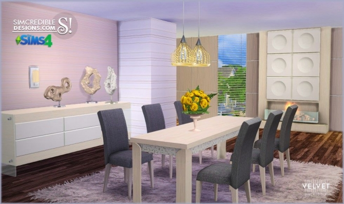 Velvet Diningroom At Simcredible Designs 4 187 Sims 4 Updates