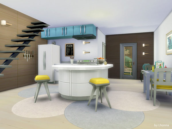 Sims 4 Small Wave house by Lhonna at TSR