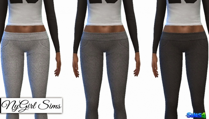 Cropped Jersey Tee And Jogging Leggings At Nygirl Sims
