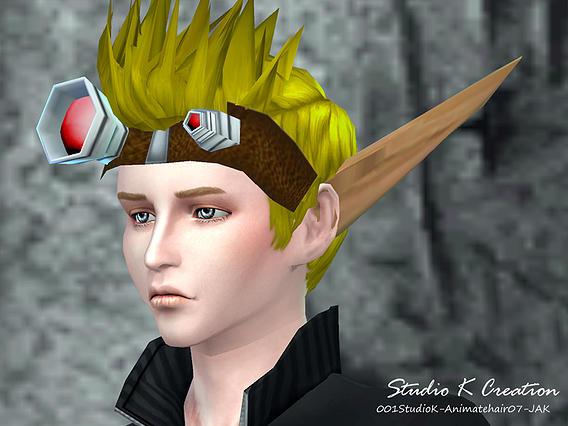 Sims 4 Animate hair 7 Jak at Studio K Creation