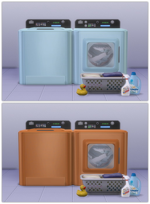 Sims 4 Washer & Dryer recolors at 13pumpkin31
