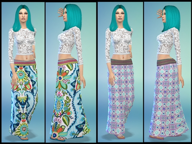 Sims 4 Boho Skirts by Tacha75 at Simtech Sims4