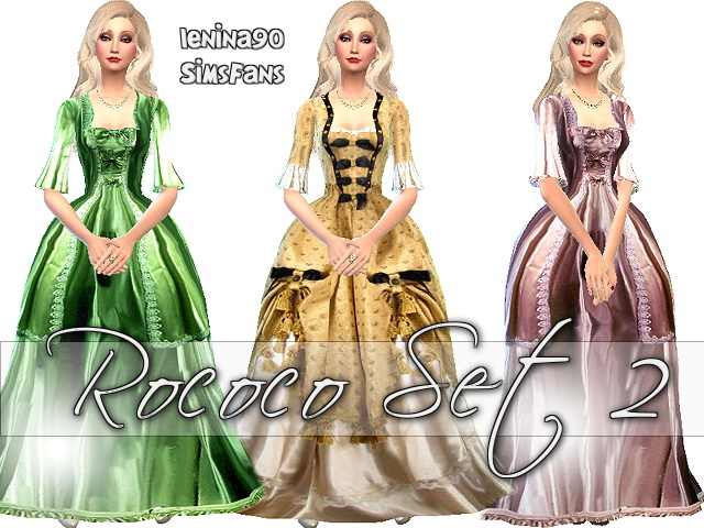 Rococo Historical Gowns Lenina Sims Fans