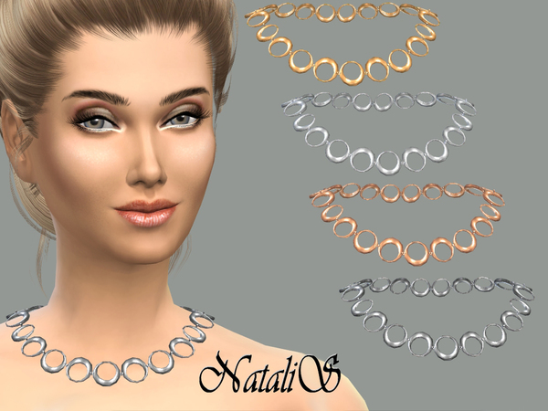 Circle necklace by NataliS at TSR image 1627 Sims 4 Updates