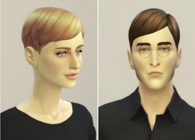 Short Straight Pixie Hair Edit At Rusty Nail 187 Sims 4 Updates