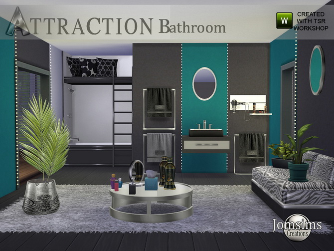 Sims 4 Attraction bathroom by  jomsims at TSR
