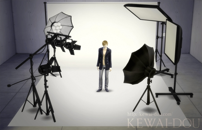 Sims 4 photo studio set objects by mia at kewai dou sims 4 updates - Decor shooting photo ...