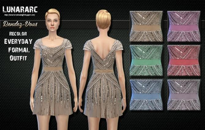 Sims 4 Rendez Vous Sequin Dress at Lunararc