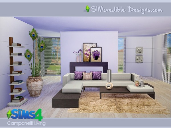 Campanelli livingroom by SIMcredible! at TSR image 1689 Sims 4 Updates