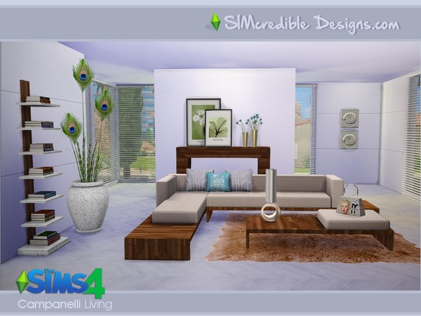 Campanelli livingroom by SIMcredible! at TSR image 17010 Sims 4 Updates